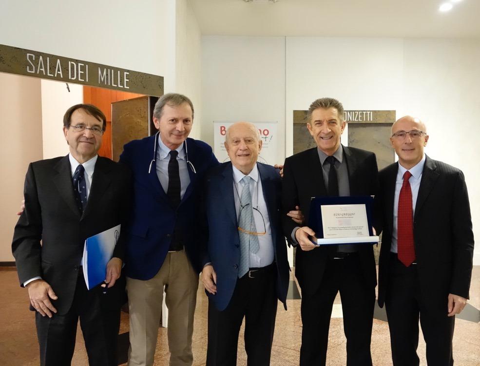 Prof Paolo Tagliabue (Ospedale San Gerardo di Monza, Giusto Bonandrini ( incubatrici Atom), Prof Giorgio Rondini e Prof Paolo Mosca